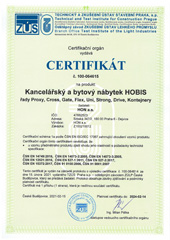 Certificate of Mechanical Safety and Meeting Ergonomic Needs