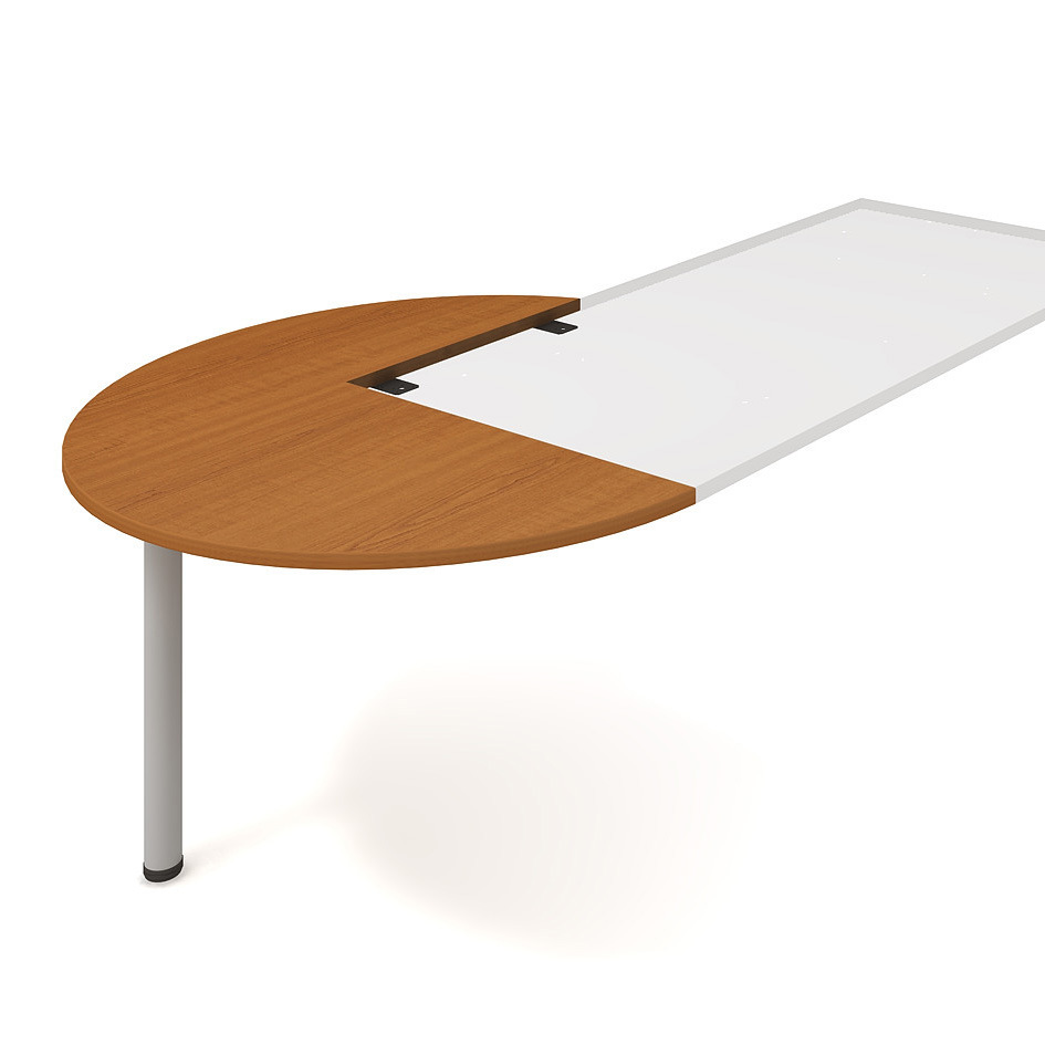 Meeting desk, right, along woodgr., ø 120 cm - CP 22 L P