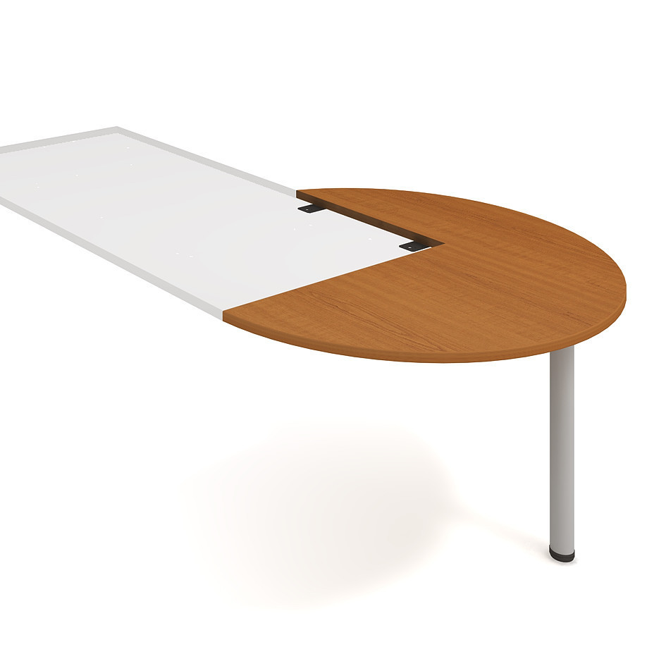 Meeting desk, right, along woodgr., ø 120 cm - CP 22 P P