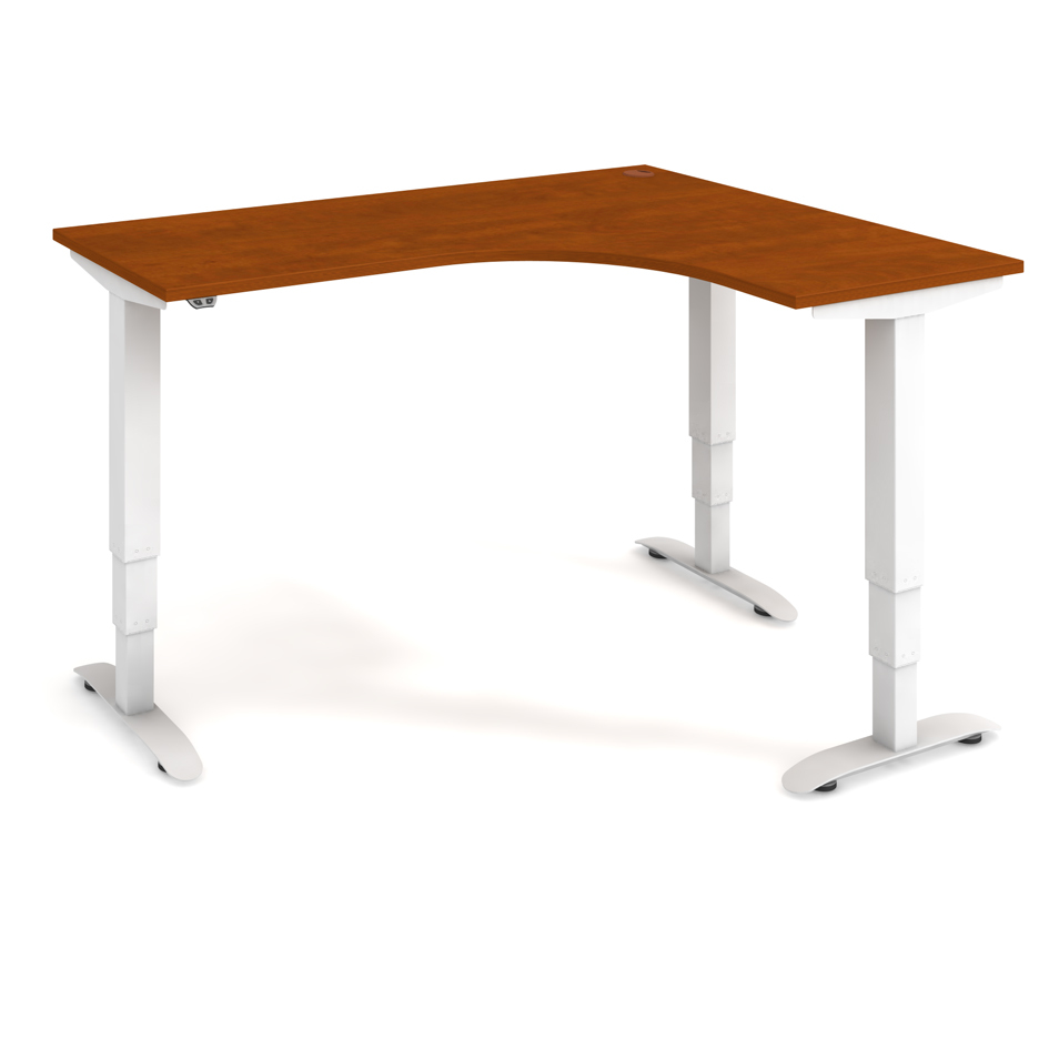 Ergo height-adjustable desk 160x120 cm, left, standard controller - MST 3 60 L