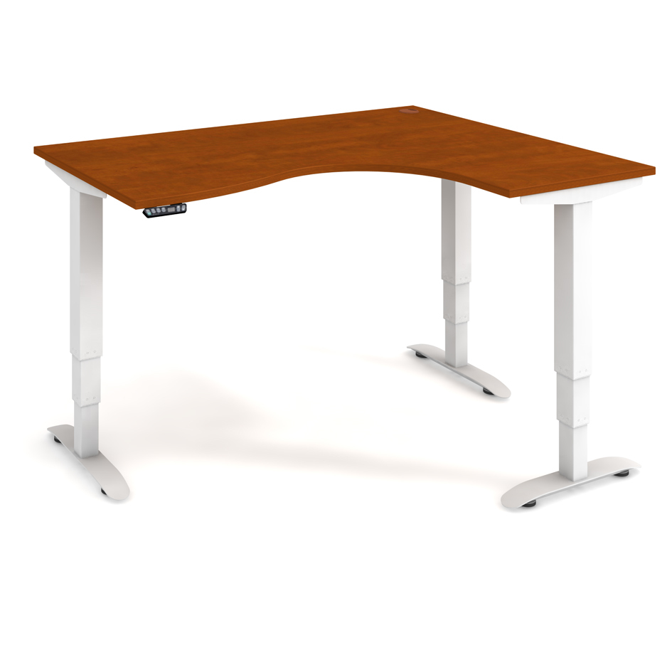 Ergo height-adjustable desk 160x120 cm, left, controller with memory - MST 3M 2005 L
